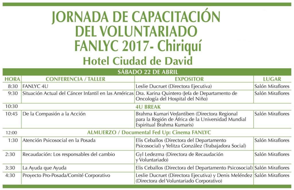 Jornada de Capacitación de Voluntariado - Chiriquí