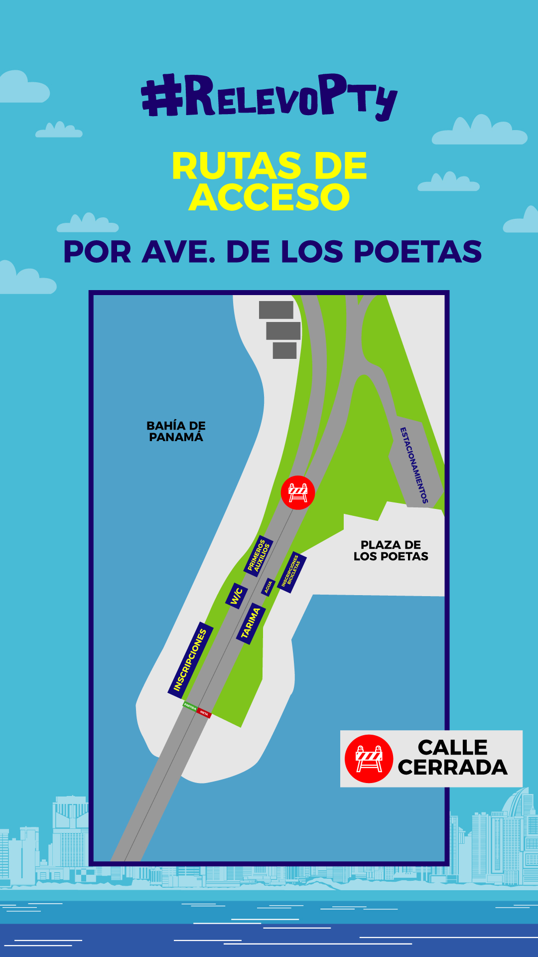 Acceso Avenida de Los Poetas - Relevo por la Vida